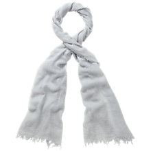 Buy Pure Collection Ultra Fine Cashmere Scarf, Silver Online at johnlewis.com