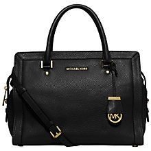 Buy MICHAEL Michael Kors Collins Large Satchel, Black Online at johnlewis.com