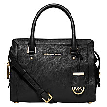 Buy MICHAEL Michael Kors Collins Small Satchel, Black Online at johnlewis.com