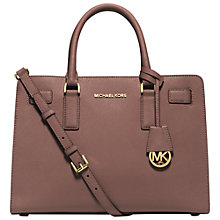 Buy MICHAEL Michael Kors Dillon Leather Satchel Online at johnlewis.com