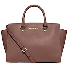 Buy MICHAEL Michael Kors Selma Large Leather Satchel Online at johnlewis.com