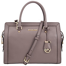 Buy MICHAEL Michael Kors Collins Large Leather Satchel Online at johnlewis.com