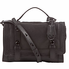 Buy MICHAEL Michael Kors Collins Medium Messenger Bag, Black Online at johnlewis.com