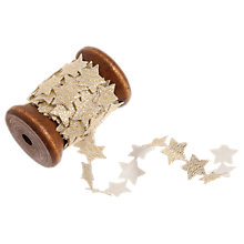 Buy John Lewis Stars Sequin Trim on Wooden Spool, 3m Online at johnlewis.com
