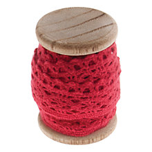 Buy John Lewis Cotton Lace Trim on Wooden Spool, 3m Online at johnlewis.com