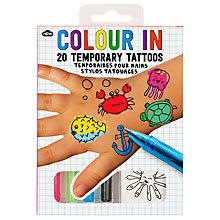 Buy Colour-In Temporary Tattoos Online at johnlewis.com