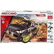 Buy Meccano Mountain Rally, 25 Model Set Online at johnlewis.com