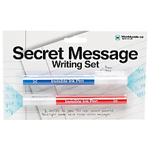 Buy Secret Message Writing Set Online at johnlewis.com