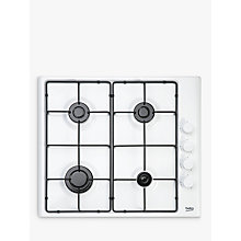 Buy Beko HIZG64120SW Integrated Gas Hob, White Online at johnlewis.com