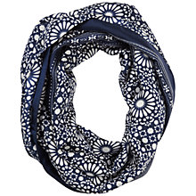 Buy Pure Collection Dacre Silk Snood, Blue Online at johnlewis.com