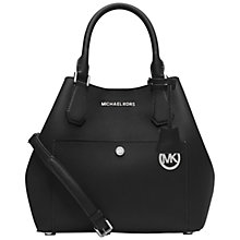 Buy MICHAEL Michael Kors Greenwich Large Grab Bag, Black Online at johnlewis.com