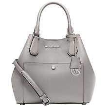 Buy MICHAEL Michael Kors Greenwich Large Satchel Grab Bag, Grey Online at johnlewis.com