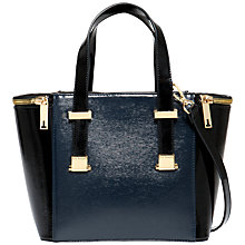 Buy Ted Baker Marena Crosshatch Small Tote Bag, Navy Online at johnlewis.com