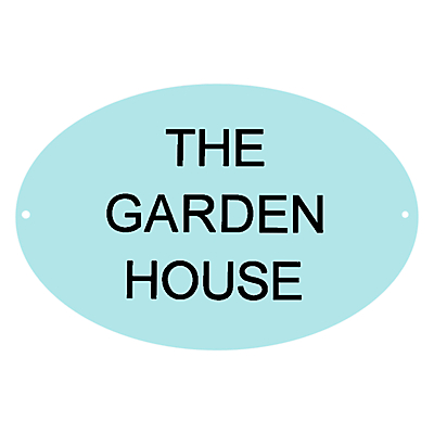 The House Nameplate Company Personalised Acrylic Round House Sign
