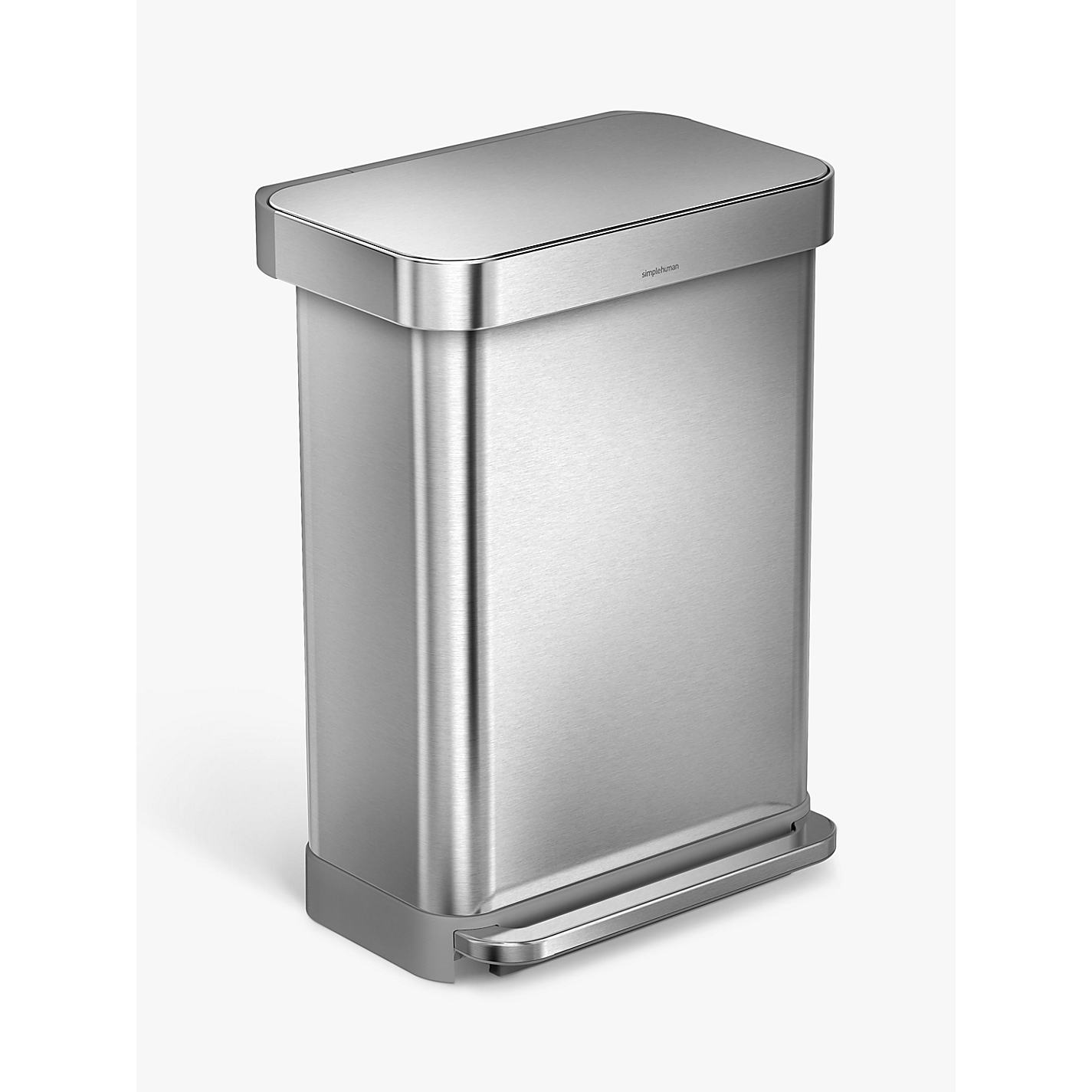 Buy simplehuman Liner Pocket Pedal Bin Brushed Steel John Lewis. Simplehuman Bathroom Bin
