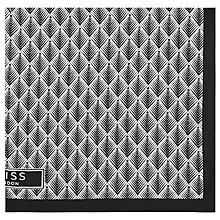 Buy Reiss Griggs Silk Pocket Square, Black Online at johnlewis.com