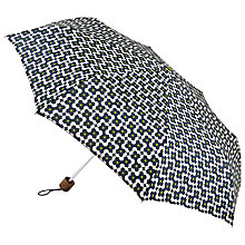 Buy Orla Kiely Tiny Flower Shadow Print Folding Umbrella, Ink Online at johnlewis.com