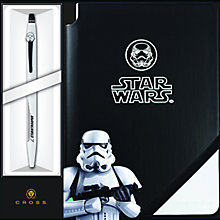 Buy Cross Star Wars Stormtrooper Click Rollerball Pen With Jotzone Journal Online at johnlewis.com