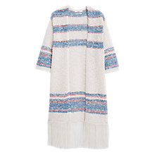 Buy Mango Printed Cotton Cardigan, Beige Online at johnlewis.com