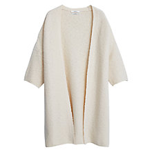 Buy Mango Cotton Cardigan, Light Beige Online at johnlewis.com
