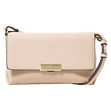 Buy Mango Pebbled Cross Bag, Pastel Pink Online at johnlewis.com
