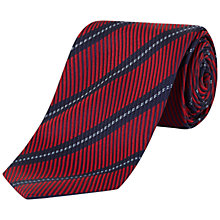 Buy Jaeger Twill Stripe Silk Tie, Red Online at johnlewis.com
