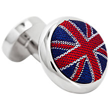Buy Thomas Pink Union Jack Cufflinks, Navy/Red Online at johnlewis.com