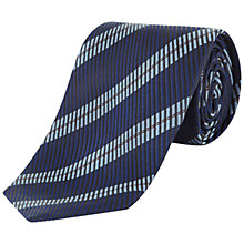 Buy Jaeger Twill Stripe Silk Tie Online at johnlewis.com