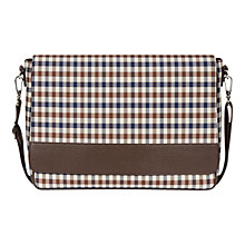 Buy Aquascutum Club Check Messenger Bag, Brown Online at johnlewis.com