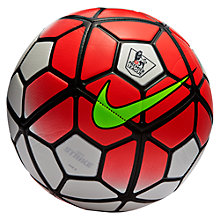 Buy Nike Strike Ptich Premier League Football, White/Red Online at johnlewis.com