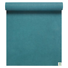 Buy Gaiam Sol Power-Grip Yoga Mat, Aqua Online at johnlewis.com