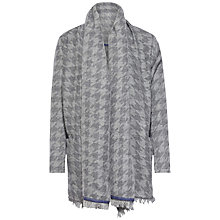 Buy Tommy Hilfiger Houndstooth Cape, Grey, One Size Online at johnlewis.com