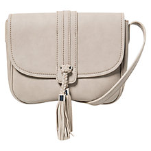 Buy Mango Pebbled Cross Body Bag, Pastel Pink Online at johnlewis.com