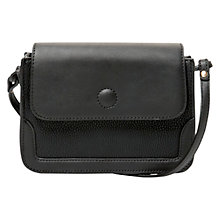 Buy Mango Pebbled Cross Body Bag, Black Online at johnlewis.com