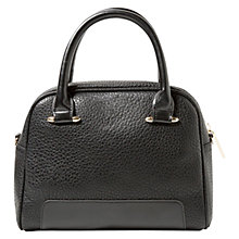 Buy Mango Zipped Pebbled Bag, Black Online at johnlewis.com
