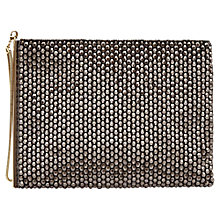 Buy Reiss Cindy Beaded Evening Bag, Gunmetal Online at johnlewis.com