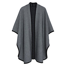 Buy Mango Waterfall Poncho, Black Online at johnlewis.com