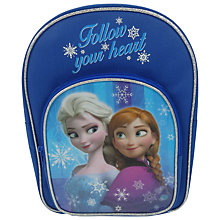 Buy Disney Frozen Backpack, Blue Online at johnlewis.com