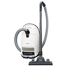 Buy Miele Complete C3 Silence Ecoline Plus New Cylinder Vacuum Cleaner with HEPA 13 Filter, White Online at johnlewis.com