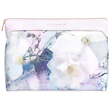Buy Ted Baker Sallina Tile Floral Large Wash Bag, Navy Online at johnlewis.com