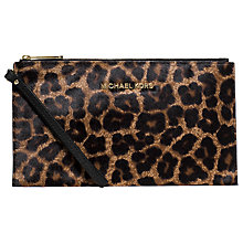 Buy MICHAEL Michael Kors Bedford Large Zip Clutch, Multi Online at johnlewis.com