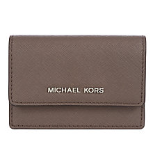 Buy MICHAEL Michael Kors Daniela Leather Card Holder Online at johnlewis.com