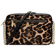 Buy MICHAEL Michael Kors Jet Set Travel East/West Leather Across Body Bag, Multi Online at johnlewis.com