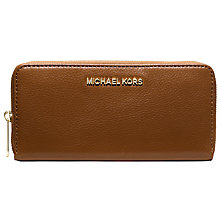 Buy MICHAEL Michael Kors Bedford Zip Across Continental Purse, Walnut Online at johnlewis.com