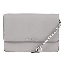 Buy MICHAEL Michael Kors Daniela Small Leather Across Body Bag, Grey Online at johnlewis.com