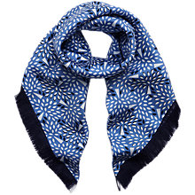 Buy Mulberry Fringed Silk Twill Square Scarf Online at johnlewis.com