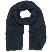 Buy Mulberry Tamara Scarf, Black/Midnight Navy Online at johnlewis.com