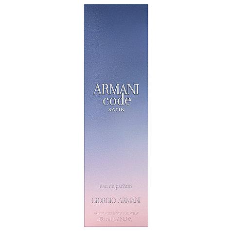 buy giorgio armani code femme satin eau de parfum john lewis. Black Bedroom Furniture Sets. Home Design Ideas