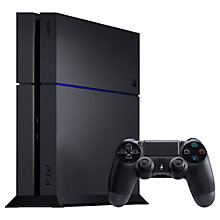 Buy Sony PlayStation 4 Console, 500GB, Black with Uncharted 4: A Thief's End & PS4 DualShock 4 Controller, Blue Online at johnlewis.com