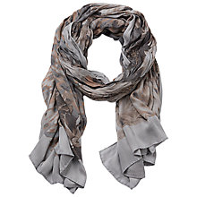 Buy Betty Barclay Floral Print Scarf, Grey/Camel Online at johnlewis.com